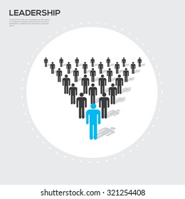 Leadership concept. Vector illustration