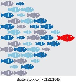 leadership fish graphic