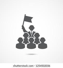 Leadership Icon on white background