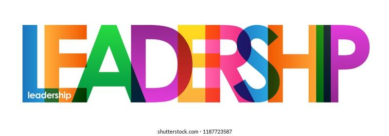 LEADERSHIP letters banner