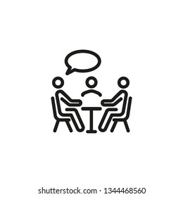 Leadership line icon. Business, meeting, conversation. Teamwork concept. Can be suited for topics like management, cooperation, communication