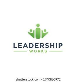 Leadership logo design. Creative and minimalist logo.