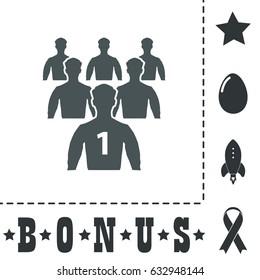 Leadership. Simple flat symbol icon on white background. Vector illustration pictogram and bonus icons