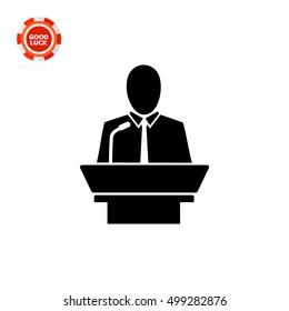 Leadership simple icon