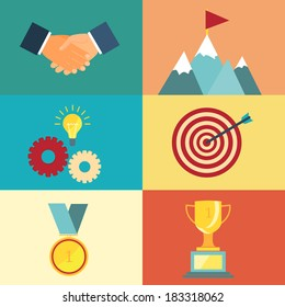 leadership and success illustration for presentations and websites in modern style