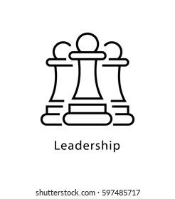 Leadership Vector Line Icon