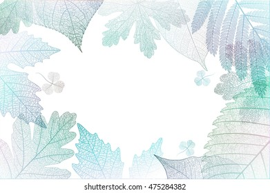 Leaf abstract colorful background. Vector illustration.