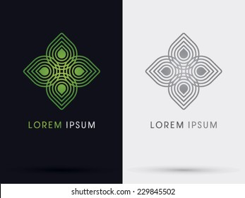 Leaf abstract logo, Vector.