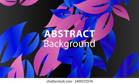 leaf background colorful pattern - vector illustration