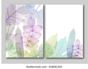 Leaf backgrounds with space for your text. Vector illustration, EPS10.