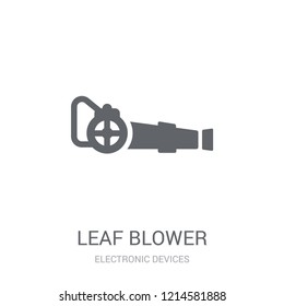 leaf blower icon. Trendy leaf blower logo concept on white background from Electronic Devices collection. Suitable for use on web apps, mobile apps and print media.