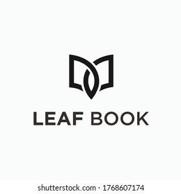 leaf book logo. book logo
