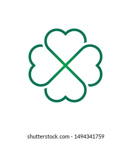 leaf clover icon design vector