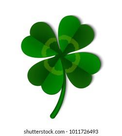 Leaf of a clover symbol of Ireland, vector illustration.