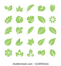 Leaf Flat Vector Icons