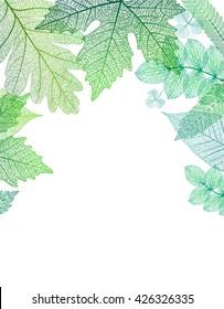Leaf green background. Vector, EPS10.