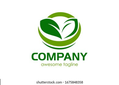 Leaf green for logo design concept, very suitable in various business purposes, also for icon, symbol and many more.