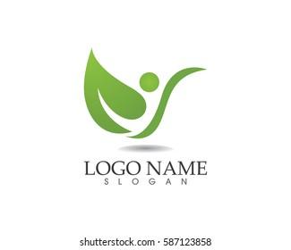 Leaf green nature logo