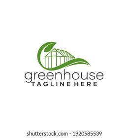 Leaf Greenhouse Logo Template Vector