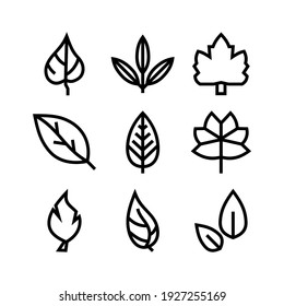 leaf icon or logo isolated sign symbol vector illustration - Collection of high quality black style vector icons