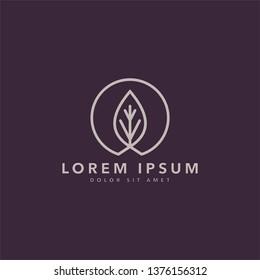 leaf icon logo vector for salon,spa