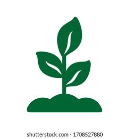 leaf icon nature symbol design element logo template vector eps 10
