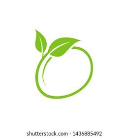 leaf icon symbol vector design