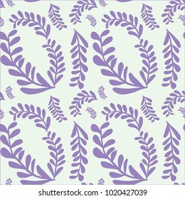 Leaf Inspired Purple Pattern