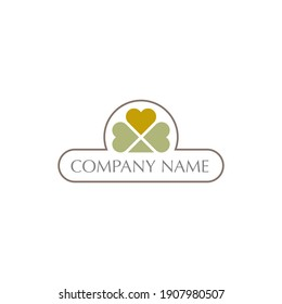 leaf logo design with geometry