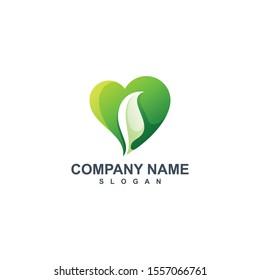 leaf logo designs green icon