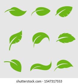 Leaf Logo icon design element