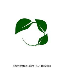 leaf logo icon for enviromntal sign