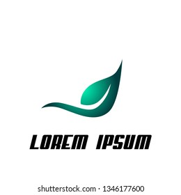 Leaf logo icon, sign, symbol for nature, biology, health product company
