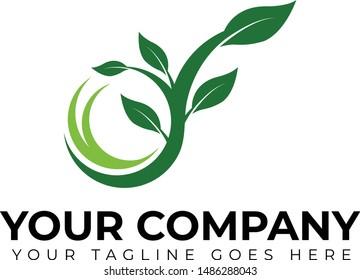 Leaf Logo Template, Leaf Vector Icon