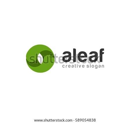 Leaf Logo Vector Stock Vector (Royalty Free) 589054838