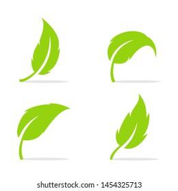 Leaf logo vector Illustration design template - Vector