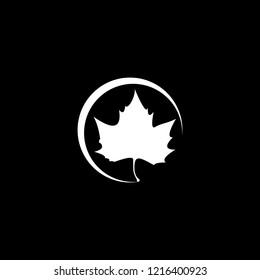 Leaf Maple Circle Creative Abstract Silhouette Creative Logo