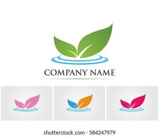 Leaf natural logo go green save world