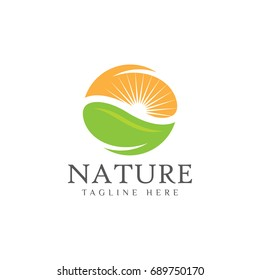 Leaf nature logo