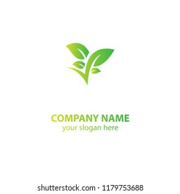 leaf nature logo design element