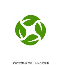 Leaf Nature Logo Icon Vector Illustration