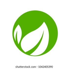 leaf nature logo or symbol for sign environment industry or factory