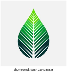 Leaf and Oil Vector