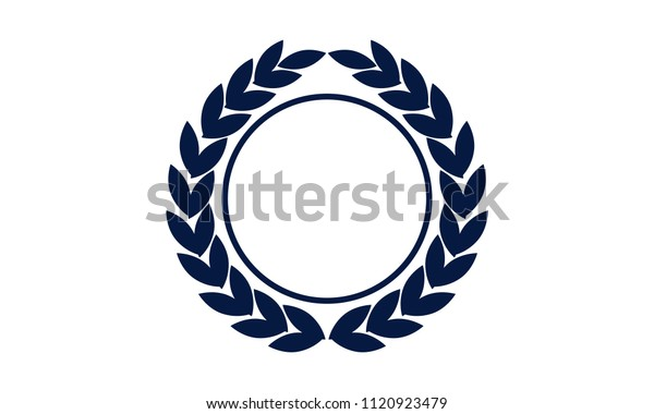 Leaf Ribbon Shield Template Blank Stock Vector Royalty Free