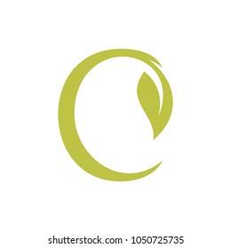 Leaf and Script Letter C
