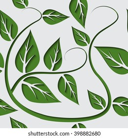 Leaf seamless pattern. Background for webs, posters, e-mail etc.