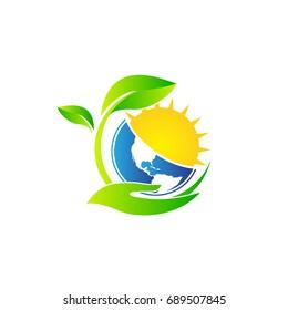 leaf solar energy logo
