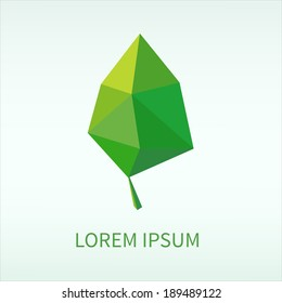 Leaf symbol. EPS vector template.