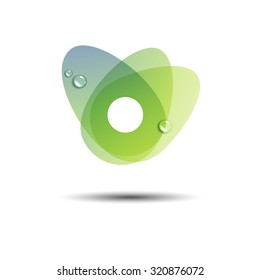 leaf symbol stylized concept ecology sign green abstract shape fresh