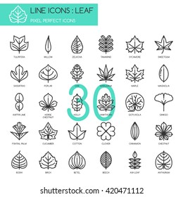 Leaf  , Thin Line and Pixel Perfect Icons